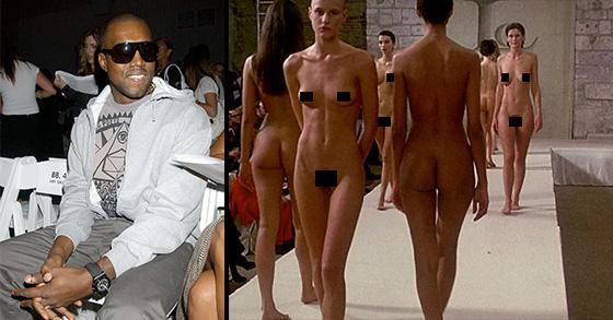 nude models on runway Designer sends nude male models down the runway carrying.