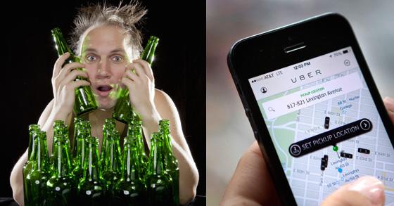 UBER pre drinks
